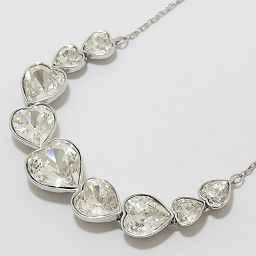 SWAROVSKI (Swarovski) Heart Swarovski Crystal Necklace 【Used Jewelry】