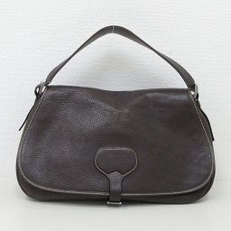 【Great price cut !!】 PRADA (Prada) shoulder bag leather brown brown hand [pre-owned] [brand bag]