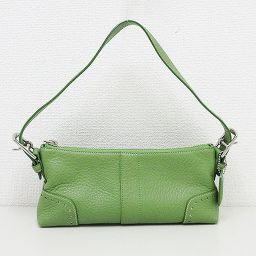 COACH (coach) leather light green green handbag 5052 [pre-owned] [brand bag]