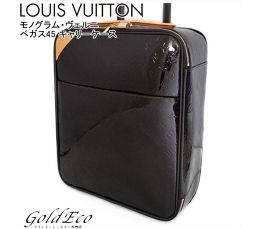 LOUIS VUITTON 【Louis Vuitton】 Monogram Vernis Pegas 45 Carry Bag Carry Case Amarante Purple Purple M91277 Patent Leather Enamel Travel Bag [Pre]