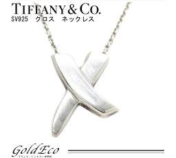 Tiffany&Co【ティファニー】SV925 キス ネックレス パロマピカソ クロス ペンダント レディース【中古】