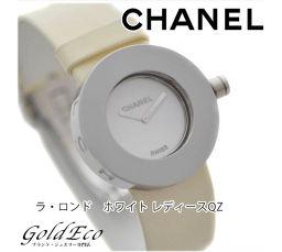 【美品】CHANEL【シャネル】 ラ・ロンド レディース腕時計【中古】 H0580 クォーツ SS エナメル革ベルト ホワイト文字盤