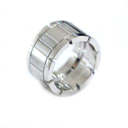 CARTIER カルティエ タンクフランセーズLM リング・指輪 K18ホワイトゴールド ジュエリー 10号 シルバー レディース【中古】