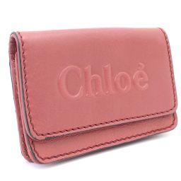 Chloe クロエ シャドウ 3P0347 カードケース レザー ペオニーレッド レディース【中古】