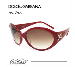 D & G 【Dolce & Gabbana】 cell frame sunglasses DG 4022 red frame × clear brown lens eyewear spectacles [pre]