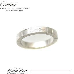 【新品仕上げ済み】 Cartier【カルティエ】ラニエールリング 約6号 #46 ホワイトゴールドレディース 750 WGジュエリー 美品【中古】
