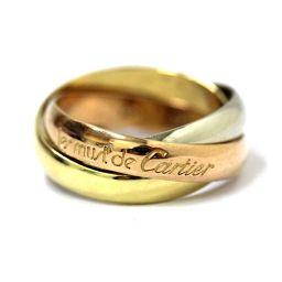 CARTIER カルティエ 3連 トリニティ リング・指輪 ジュエリー 9.5号 ピンクゴールド レディース【中古】