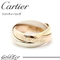【新品仕上げ済】Cartier【カルティエ】3連リング トリニティリングK18 750 スリーゴールド #49 約9.5号レディース