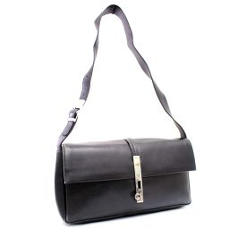 Salvatore Ferragamo Salvatore Ferragamo Guntini E21 8734 Shoulder bag Leather Black Ladies 【Used】