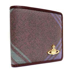 Vivienne Westwood ヴィヴィアンウエストウッド ダービー 730VV11 二つ折り財布 PVC/レザー パープル系 ユニセックス【中古】