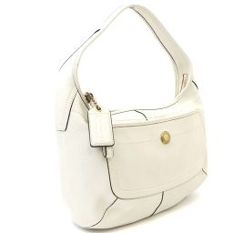 COACH Coach Ergo Leather Hobo 10740 Shoulder Bag Leather White Ladies [Pre]