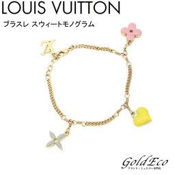 LOUIS VUITTON 【ルイヴィトン】 ブラスレスウィート モノグラム ブレスレット M65477 フラワーゴールド金具
