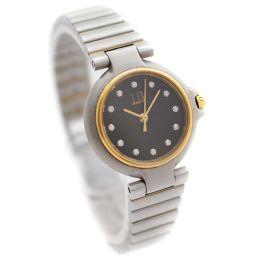 Dunhill ダンヒル ミレニアム 12Pダイヤ 腕時計 ブラック文字盤 クオーツ コンビカラー レディース【中古】
