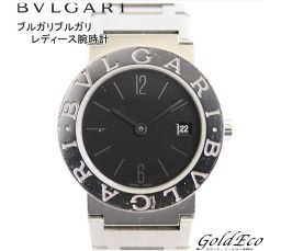 BVLGARI 【Bvlgari】 BVLGARI BVLGARI Ladies' watch with date display Date display Stainless steel Silver Black dial black dial Battery powered quartz BB26SS [pre]