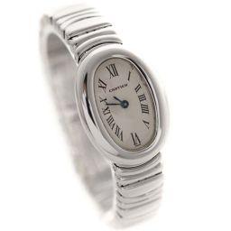 CARTIER カルティエ ミニベニュワール 金無垢 W15189L2 腕時計 アイボリー文字盤 クオーツ レディース【中古】