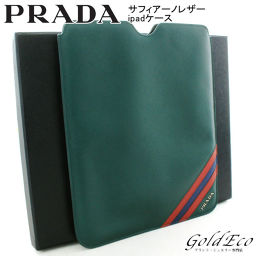 PRADA 【Prada】 Saffiano leather iPad case 2ARD64 tablet case green green 【pre-owned】 miscellaneous goods men's PRADA