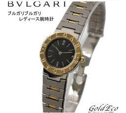 BVLGARI 【Bvlgari】 BVLGARI BVLGARI Ladies' battery-operated quartz date display Date display stainless steel × 18 gold yellow gold combination silver black dial BB23 SGD [pre]