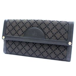 GUCCI Gucci Diamante Folded 272602 Long Wallet Wool / Leather Black Unisex [Pre]