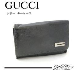 GUCCI 【グッチ】レザー 6連 キーケース ブラック 黒 033 2091 1811 ロゴ G 【中古】