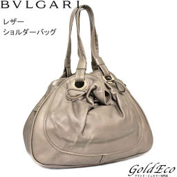 BVLGARI [Bulgari] Leather Shoulder Bag Light Brown Shoulder Strap [pre] BVLGARI [Bulgari]