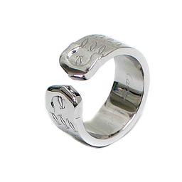 CARTIER カルティエ 2000年 クリスマス限定 C2 リング・指輪 K18ホワイトゴールド ジュエリー 9.5号 WG レディース【中古】