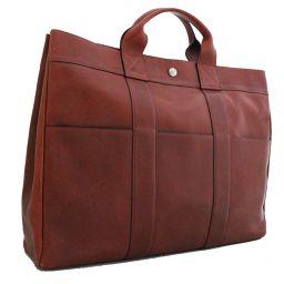 HERMES Hermes Fool toe MM Tote Bag Leather Rouge Ash Unisex [pre]