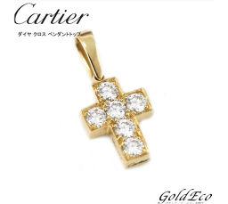Cartier【カルティエ】ダイヤモンド クロス ペンダントトップK18 イエローゴールド 750ペンダントヘッド チャーム【新品仕上げ済】【中古】