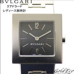 BVLGARI【ブルガリ】クアドラード レディース腕時計ウォッチ ブラック文字盤電池式 クォーツアナログ