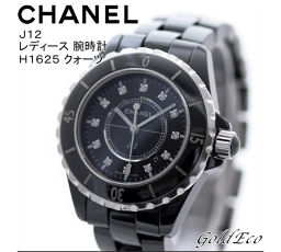 CHANEL 【Chanel】 J12 Ladies Watch 12P Diamond H1625 Quartz Black Ceramic SS [Pre]