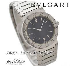 fbf7437544d0 BVLGARI【ブルガリ】 ブルガリブルガリ ボーイズ腕時計【中古】 クォーツ ブラック文字盤/