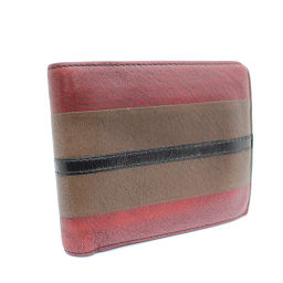 BOTTEGAVENETA Bottega Veneta Bi-fold Wallet Leather Brown Red Unisex [Pre]