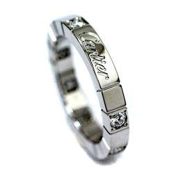 CARTIER カルティエ ラニエール リング・指輪 K18ホワイトゴールド/ダイヤモンド ジュエリー 8号 ホワイトゴールド ユニセックス【中古】
