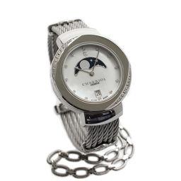 CHARRIOL シャリオール ST-TROPEZ サントロペ ST35SD1.560.008 腕時計 シェル文字盤 クオーツ シルバー レディース【中古】
