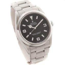 ROLEX ロレックス エクスプローラー1 ref.14270 A番 腕時計 ブラック文字盤 自動巻き シルバー メンズ【中古】