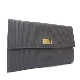 BVLGARI Bulgari Travel Case Passport Case Mirerigue 25562 Long Purse PVC / Leather Black Men [Used]