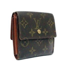 LOUIS VUITTON Louis Vuitton Monogram Portimone Bie Carte Credit Double Hook M61652 Bi-Fold Wallet PVC Brown Unisex [Pre]