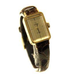 OMEGA オメガ デビル  手巻き スクエアケース 腕時計 ゴールド文字盤 手巻き ゴールド レディース【中古】