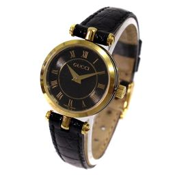 GUCCI Gucci 2040L Watch Black Dial Black Gold Women's [Used]