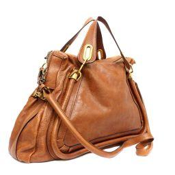 Chloe Chloe Paraty 2WAY Shoulder bag leather camel unisex [pre]