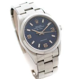 ROLEX ロレックス エアキング オイスターパーペチュアル プレシジョン Ref.14000 W番 94年〜95年製 腕時計 ネイビー文字盤 自動巻き シルバー メンズ【中古】