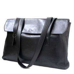 COACH coach 5470 shoulder bag leather / suede black unisex [pre]