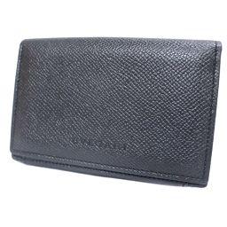 BVLGARI ブルガリ 名刺入れ カードケース レザー ブラック メンズ【中古】