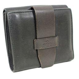 GUCCI グッチ ベルトデザイン 101566・0959 二つ折り財布 レザー ダークブラウン ユニセックス【中古】