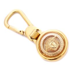 VERSACE Versace Medusa Charm Key Holder Metal Gold Unisex [pre]