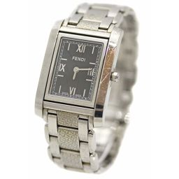 FENDI Fendi loop F765310 watch quartz silver black women [pre]