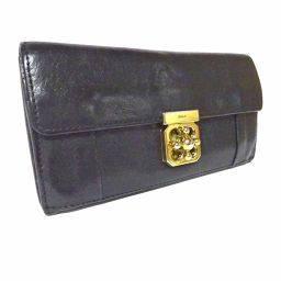 Chloe Chloe Elsie Bi-fold Wallet Leather Black Ladies [Used]