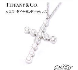 【新品仕上済み】Tiffany&Co【ティファニー】ジャズ クロス ダイヤモンド ネックレス PT950プラチナ ペンダント