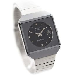 RADO Rado Diamond Star 719.00639.3 Watch Black Dial Quartz Women's Silver [pre]