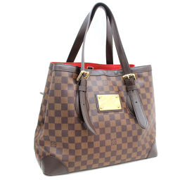 LOUIS VUITTON Louis Vuitton Hampstead MM N51 204 Tote Damier Canvas Brown Ladies [pre-owned]