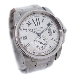 CARTIER カルティエ カリブル ドゥ カルティエ W7100015 腕時計 シルバー文字盤 自動巻き シルバー メンズ【中古】